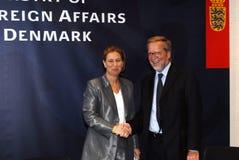 Tzipi Livni & Per Stig Moeller Fotografia Royalty Free
