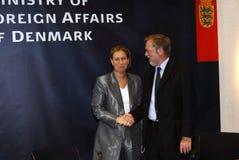 Tzipi Livni & Per Stig Moeller Zdjęcia Royalty Free