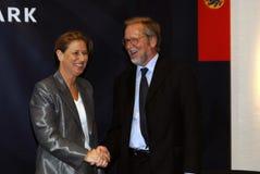Tzipi Livni & Per Stig Moeller Obraz Stock
