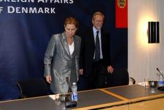 Tzipi Livni & Per Stig Moeller Obrazy Stock