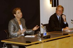 Tzipi Livni & Per Stig Moeller Zdjęcie Stock