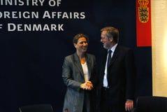 Tzipi Livni & Per Stig Moeller Obraz Royalty Free