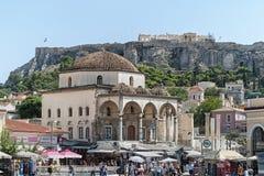 Tzistarakis Mosque in Monastiraki Square in Athens, Greece Stock Images