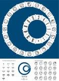 Tzolkin majowia kalendarz royalty ilustracja