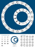 Tzolkin Maya Calendar ilustração royalty free