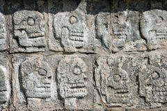 Tzompantli.Chichen Itza Royalty Free Stock Images
