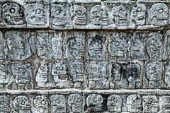 Tzompantli - Wall of Skulls Stock Photography