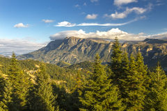 Tzoumerka山,在约阿尼纳,伊庇鲁斯同盟地区,希腊 免版税库存照片