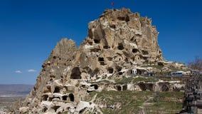 Uçhisar Castle Στοκ Φωτογραφίες