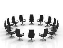 ułożenia krzeseł grupowy wielki round Obrazy Stock