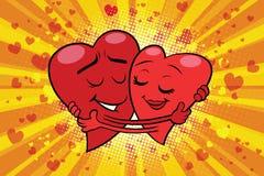 Uściśnięcie pary miłości walentynka ilustracja wektor