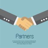 Uścisków dłoni partnery biznesowi ilustracji