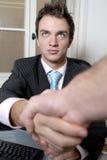 uścisk dłoni biznesmena Obraz Royalty Free