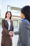 uścisk dłoni biznesowa kobieta Zdjęcie Stock