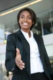 uścisk dłoni biznesowej kobieta Fotografia Stock
