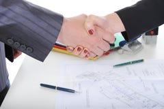 uścisk dłoni biznesowi partnery Obraz Royalty Free