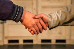 uścisk dłoni ciepły Obraz Royalty Free