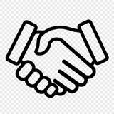 Uścisk dłoni ikona zdjęcie stock