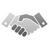 Uścisk dłoni ikona Fotografia Stock