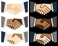 Uścisk dłoni kolorowy Logo Obraz Stock
