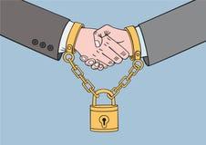 Uścisk dłoni między dwa partnerami Obraz Stock