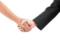 Uścisk dłoni odizolowywający na białym tle Fotografia Stock