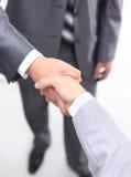 Uścisk dłoni odizolowywający na biel Zdjęcia Royalty Free
