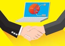 Uścisk dłoni pomyślna transakcja biznesowa royalty ilustracja