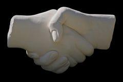 uścisk dłoni posągów kamień Zdjęcia Stock