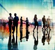Uścisk dłoni pracy zespołowej spotkania Drużynowej konferenci Conce ludzie biznesu obrazy stock