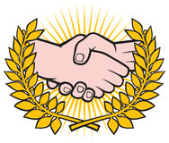 uścisk dłoni symbo Royalty Ilustracja