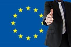 Uścisk dłoni w Europe Obrazy Royalty Free