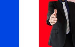 Uścisk dłoni w Francja Obraz Royalty Free