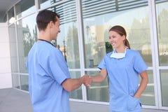 uścisk dłoni zaopatrzenie medyczne Obrazy Royalty Free