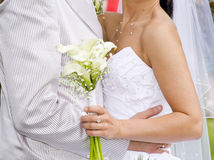uścisku ślub Fotografia Stock