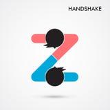 Uścisku dłoni abstrakta znaka projekta wektorowy szablon Biznesowy creativ ilustracja wektor