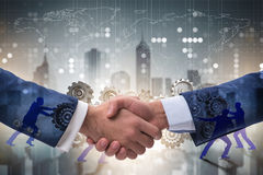 Uścisku dłoni pojęcie - biznesowa metafory ilustracja obraz stock