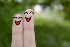 Uśmiechów palce fotografia stock