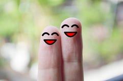Uśmiechów palce zdjęcie stock