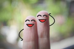Uśmiechów palce obrazy stock