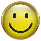 Uśmiech Żółta ikona w złoto ramie Fotografia Royalty Free