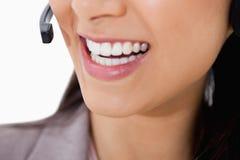 Uśmiech centrum telefoniczne żeński agent Zdjęcie Royalty Free