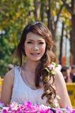 uśmiech chiangmai festiwalu kwiatu damy uśmiech Obraz Royalty Free