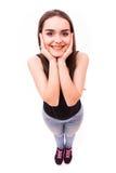Uśmiech dziewczyna od above fotografia stock