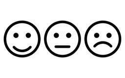 Uśmiech ikony wektor eps10 Smiley twarz znak Emoji stawia czoło smiley ikony linii symbol Odosobniona wektorowa ilustracja szczęś royalty ilustracja