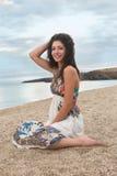 Uśmiech na plaży obrazy stock
