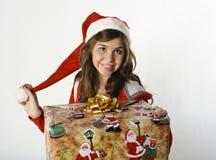Uśmiech przy Bożymi Narodzeniami Fotografia Royalty Free