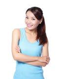 Uśmiech szczęśliwa kobieta Fotografia Stock