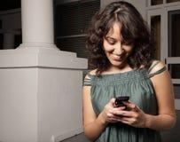 uśmiech TARGET1702_0_ kobieta obraz stock