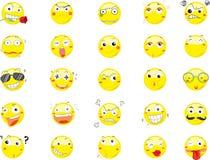 Uśmiech twarzy ikony ilustracji